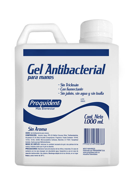 Gel Antibacterial (1000mL) Sin Triclosán